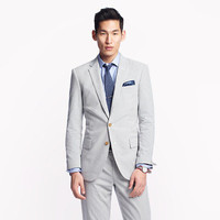 Ludlow suit jacket with center vent in Japanese seersucker - seersucker Ludlow suiting - Men - J.Crew