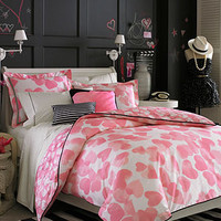 Teen Vogue Bedding, Faded Hearts Comforter Sets - Bed in a Bag - Bed & Bath - Macy's
