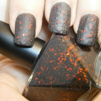 Wretched Wench Nail Polish - Matte Black & Red Grunge Glam - Steampunk - Full Size 15 ml Bottle