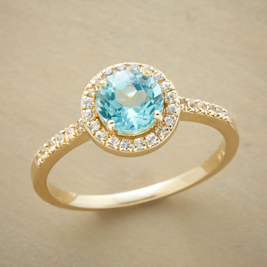blue quintessence ring gemstone rings from sundance
