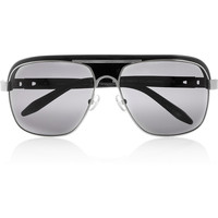 Alexander Wang | Aviator-style acetate and metal sunglasses | NET-A-PORTER.COM