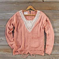 Bundle & Tie Lace-up Sweater, Sweet Bohemian Sweaters