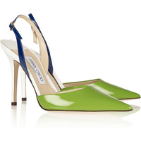 Jimmy Choo | Volt color-block patent-leather slingbacks | NET-A-PORTER.COM