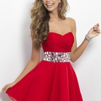 Blush Prom 9683 Strapless Silk Dress