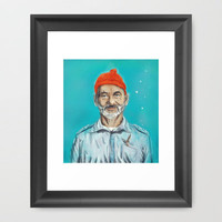 Bill Murray / Steve Zissou Framed Art Print by Balazs Pakozdi