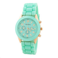 Mint Color Silicone Watch 07