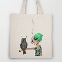 Punk N' A Bird Tote Bag by Ben Geiger