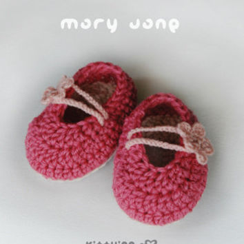 Baby Jane Booties Knitting Pattern | Red Heart