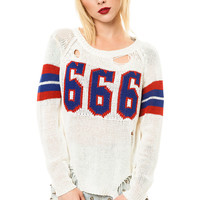 UNIF Sweater Varsix White