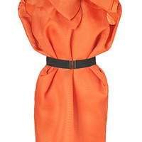 Viktor & Rolf - Mandarin Silk Balloon Dress with Bow Brooch