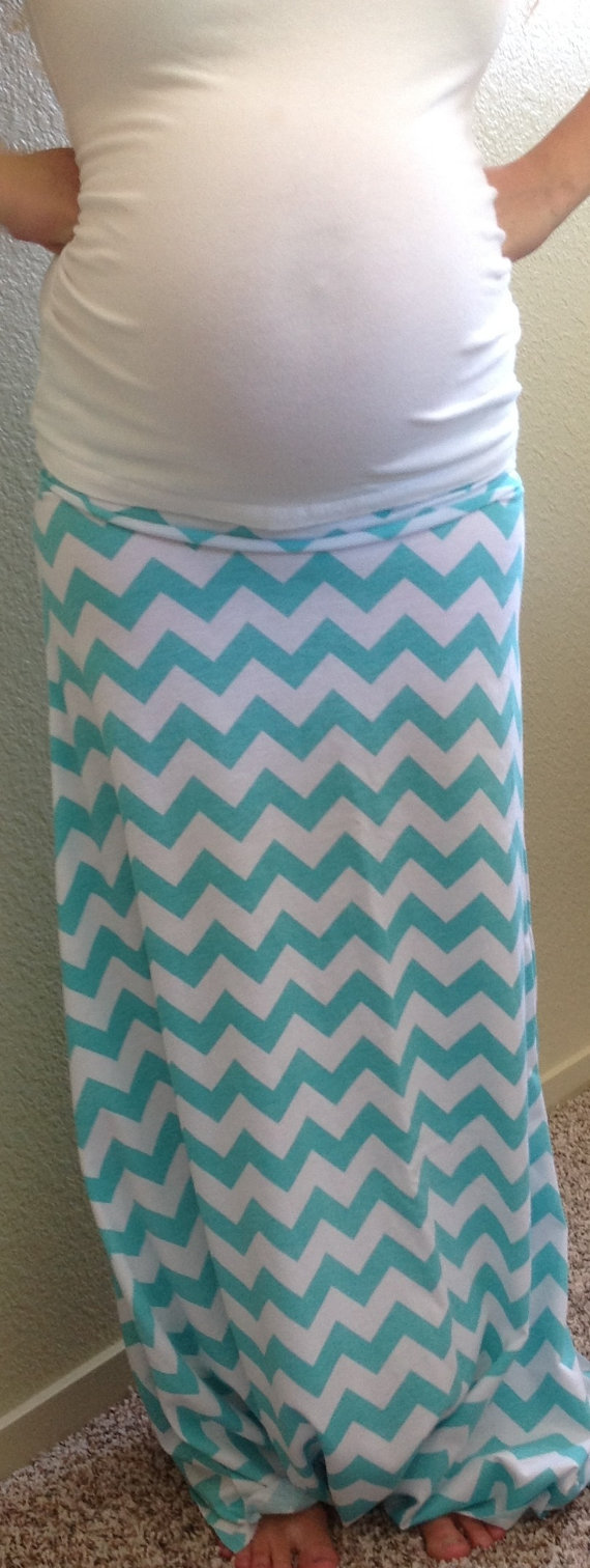 blue and white chevron maxi from seasonsapparel on