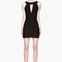 Balmain Black Split-front Bandage Mini Dress for women | SSENSE