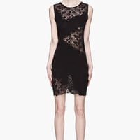 Versace Black Lace Sweater Dress for women | SSENSE