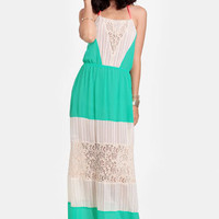 Wandering Free Colorblocked Maxi Dress