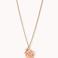 Rosette Charm Necklace