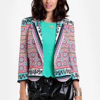 Resort Scarf Printed Jacket By Ladakh