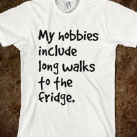 long walks to the fridge - Humorous Tees - Skreened T-shirts, Organic Shirts, Hoodies, Kids Tees, Baby One-Pieces and Tote Bags