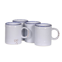 Enamel 'Canteen' Set Of Four Enamel Mugs