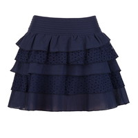 Ruffle Tier Eyelet Skirt