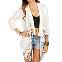 Cream Printed Light Jacket