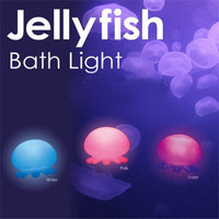 Violet Jelly Fish Bath Light