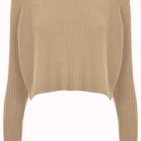 Knitted Rib Detail Crop Jumper - Knitwear - New In This Week - New In - Topshop