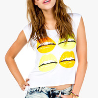 Neon Lip Open Back Tee