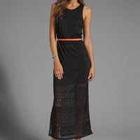 DV by Dolce Vita Lynnie Jersey Burnout Maxi Dress in Black from REVOLVEclothing.com