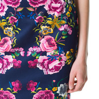 FLORAL PRINT PENCIL SKIRT - Skirts - Woman | ZARA United States