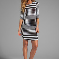 dolan Shirred Stripe Dress in Sailor from REVOLVEclothing.com