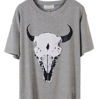 Animal Print Short Sleeve Loose T-shirt - OASAP.com