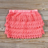 Misty Melon Lace Skirt, Women's Sweet Country Clothing