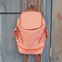 Striped Traveler Backpack, Women's Rugged Bags, Totes, & Backpacks