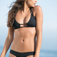 The Girl and The Water - Frankie's Bikinis - Oceanside Top Black - $72