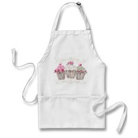 Rosy Cupcake Apron from Zazzle.com