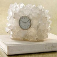 White Quartz Clock?-?Neiman Marcus