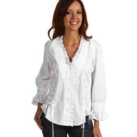 Scully Lace Up Back Shirt