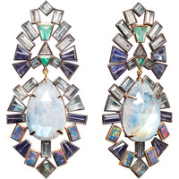 Nak Armstrong Tanzanite, Opal, Moonstone, Labradorite, Aquamarine & Emerald Earrings at Barneys.com