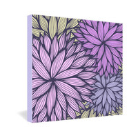 DENY Designs Home Accessories | Gabi Purple Dahlia Gallery Wrapped Canvas