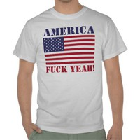 America Fuck Yeah! USA Flag Value T-Shirt from Zazzle.com