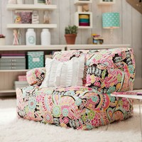 Dark Pink Paisley Pop Eco Lounger
