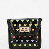 Cooperative Rainbow Heart Turn-Lock Coin Pouch