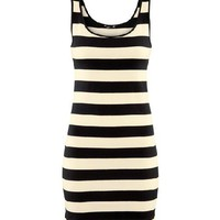 Mono Stripe Body-Conscious Tank Dress