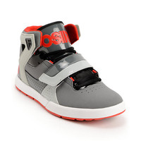 Osiris L2 Chrarcoal, Black & Red Skate Shoe