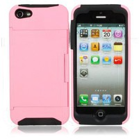 Amazon.com: Pink Business Credit Card Holder Stand Silicone Case Back Cover for Iphone 5: Cell Phones & Accessories