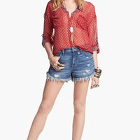 Free People Blouse & Cutoff Shorts | Nordstrom