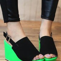 Green Platform Sandals from BAIANSY
