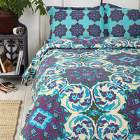 Magical Thinking Azo Medallion Duvet Cover- Blue Full/queen