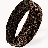 Pleated Leopard Headwrap