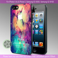 Galaxy Nebula Space Stars Beauty Design - iPhone 4 / iPhone 4S / iPhone 5 / Samsung S2 / Samsung S3 / Samsung S4 Case Cover